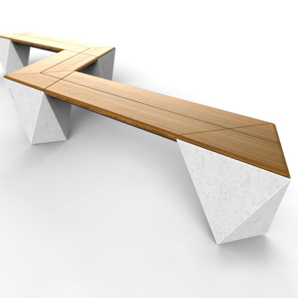 betonová parková lavička spirit